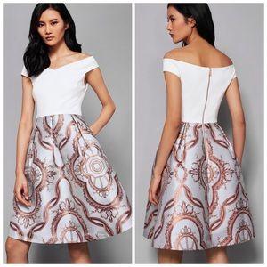 Ted Baker London Versailles Jacquard Skirt Dress